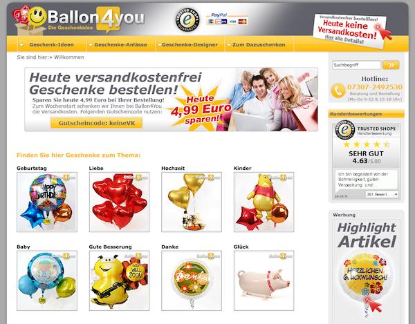 Ballon4you - Geschenke Online Shop