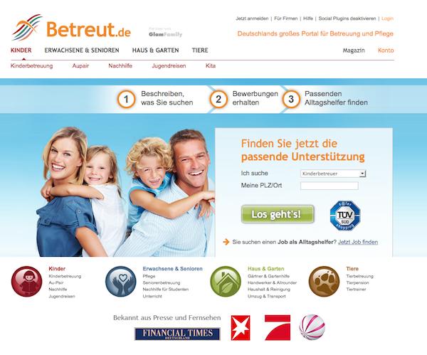 Betreut - Babysitter und Tagesmutter Online Portal