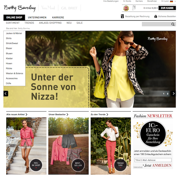 Betty Barclay - Mode und Accessoires Online Shop