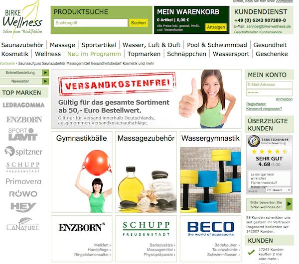 birke-wellness - Wellnes und Kosmetik Online Shop