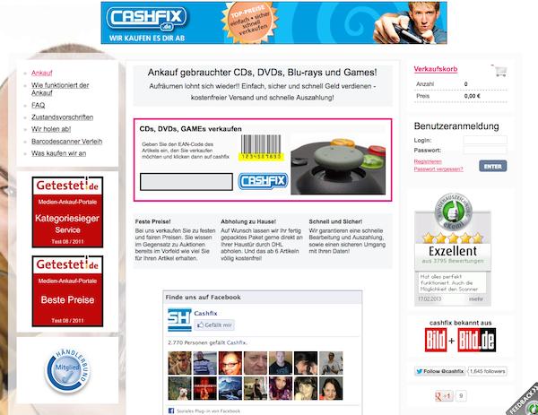 cashfix - Online Ankauf gebrauchter CDs, DVDs, Blu-rays