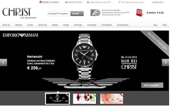 Christ Onlineshop - Schmuck und Uhren online bestellen