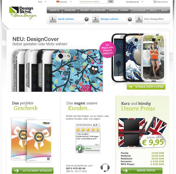 DesignSkins - Fotodruck und Geschenke Online Shop