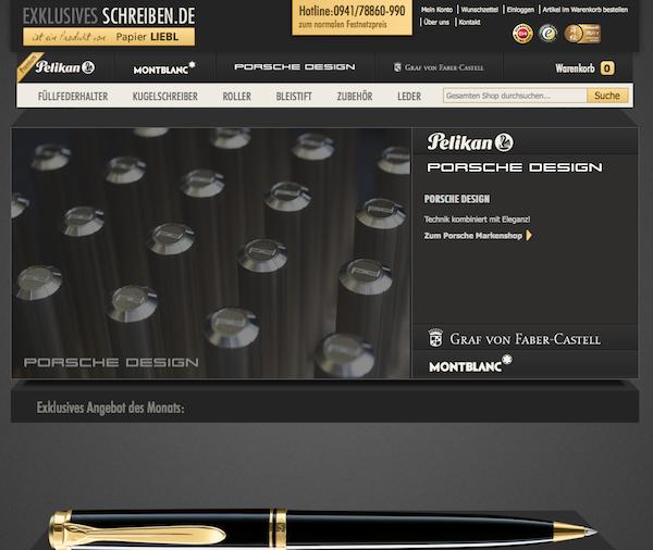 Exklusives Schreiben - Schreibgeräte Online Shop