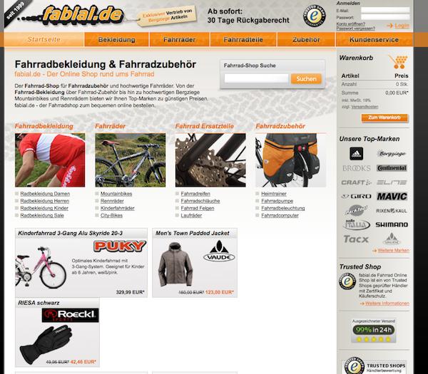 Fabial - Fahrräder und Zubehör Online Shop