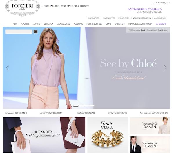 Forzieri - Mode und Accessoires Online Shop