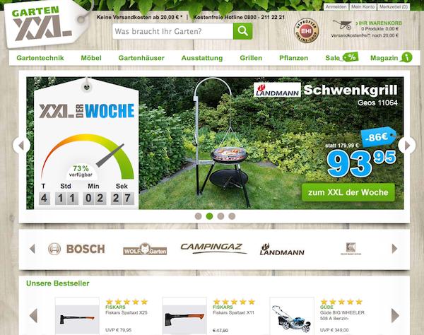 Garten XXL Gartentechnik und Ausstattung online bestellen