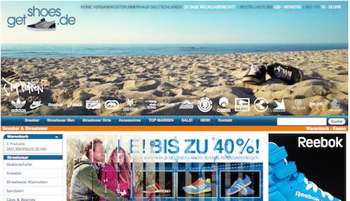 Streetwear und Schuhe Onlineshops