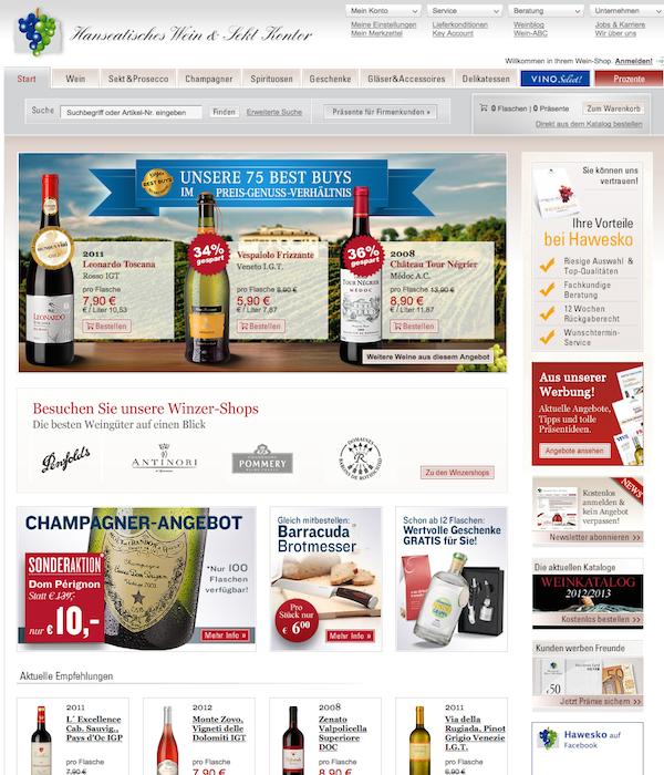 Hawesko - Wein & Sekt Online Shop