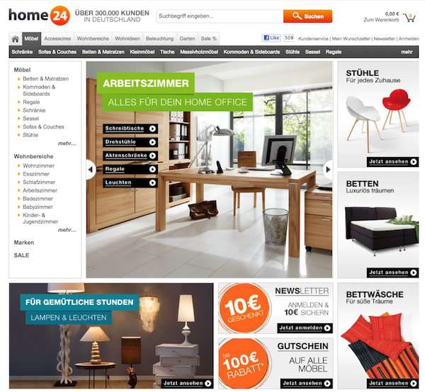 home24 at gutschein rabatt gutscheincode. Black Bedroom Furniture Sets. Home Design Ideas