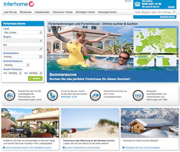 Interhome - Online-Reiseanbieter
