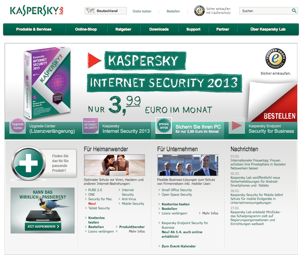 Kaspersky - Software Online Shop