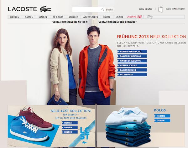 Lacoste Österreich - Mode Online Shop