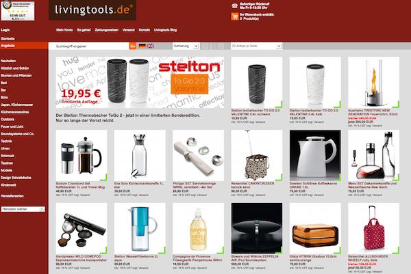 Livingtools - Möbel, Technik,  Audio-Systeme, Schmuck, Leuchten, Outdoor Online Shop