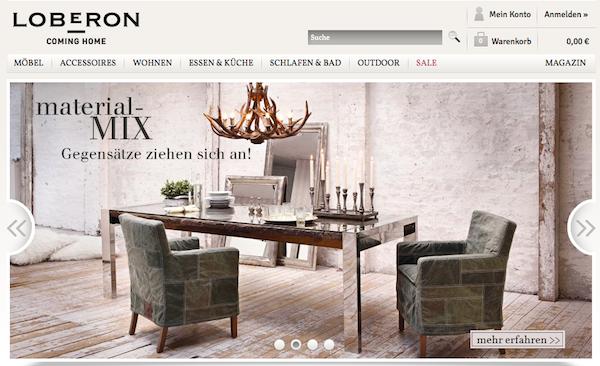 Loberon - Möbel und Wohnaccessoires Online Shop
