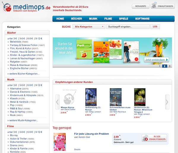 Medimops - Gebrauchte Medien online kaufen