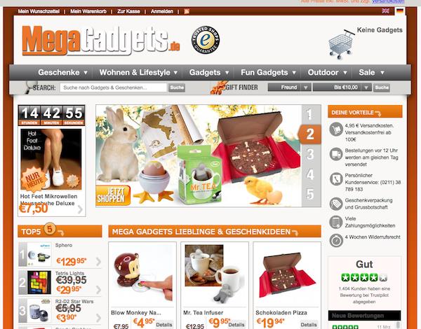 MegaGadgets - Geschenke Online Shop