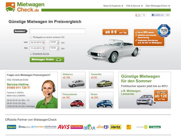 MietwagenCheck - Mietwagen-Preisvergleich