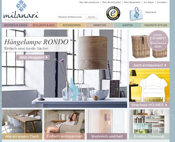 Milanari - Möbel und Wohnaccessoires Online Shop