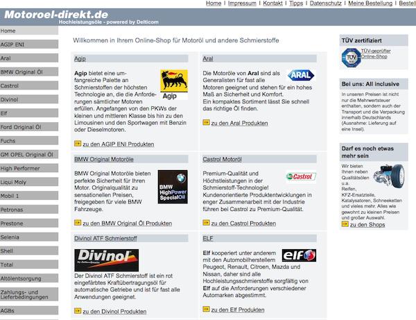 Motoroel-Direkt - Motoröle und Schmieröle Online Shop
