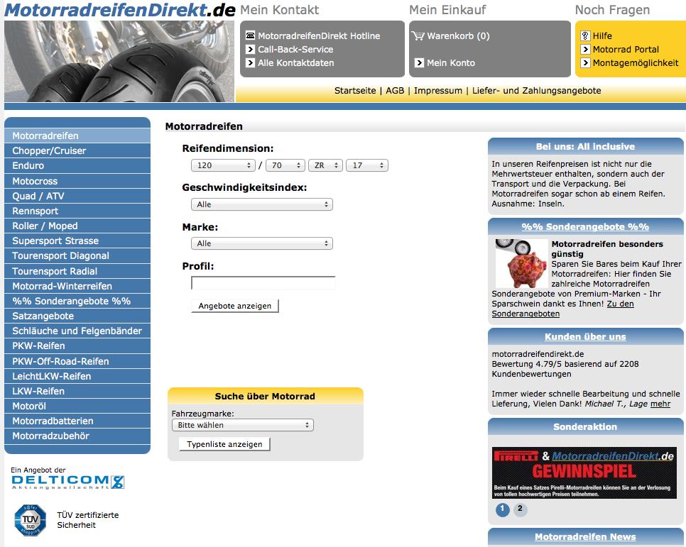 MotorradreifenDirekt - Motorradreifen Online Shop