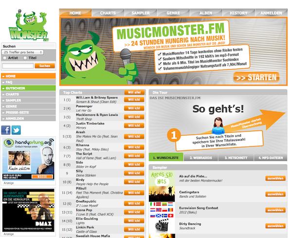 MusicMonster - Musik Online Shop