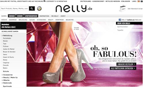 Kleider, Sportmode, Jeans, Kosmetik und noch mehr bei Nelly.com