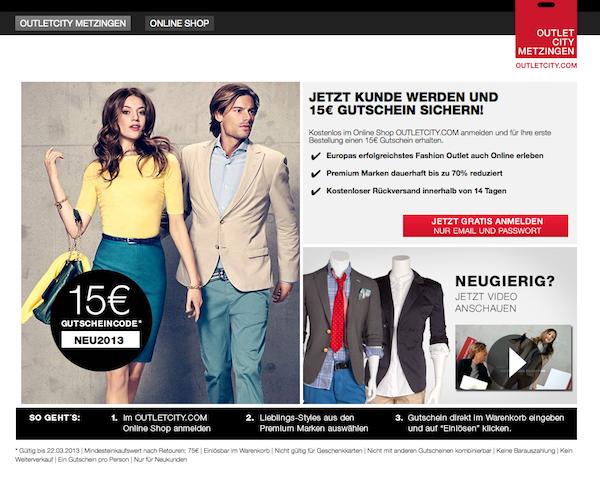 Outletcity Metzingen - Mode und Accessoires Online Shop