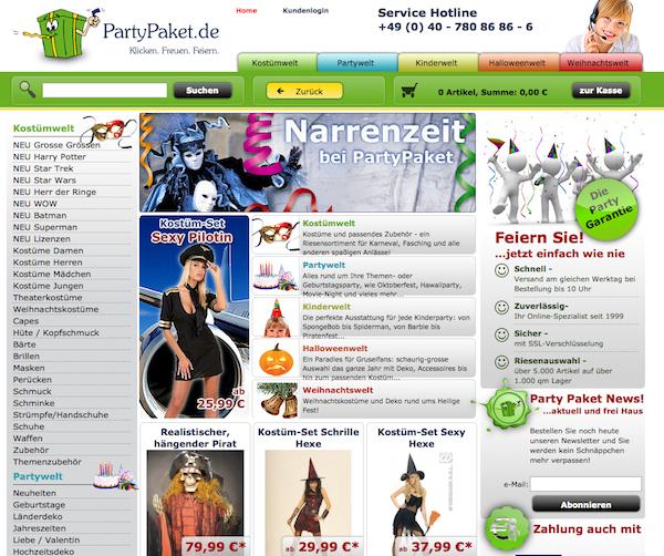 PartyPaket  - Kostüme und Party Accessoires Online Shop