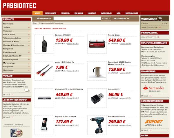 Passiontec - Haushaltsgeräte und Entertainment Online Shop