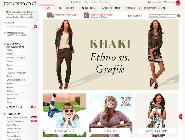 Promod - Mode und Accessoires Online Shop