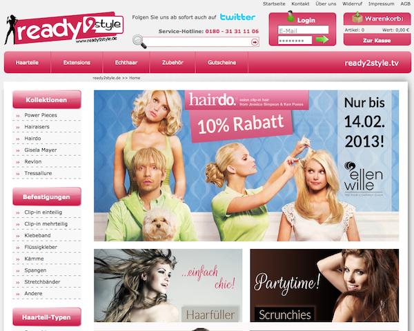 Ready 2 Style - Perücken und Haarteile Online Shop