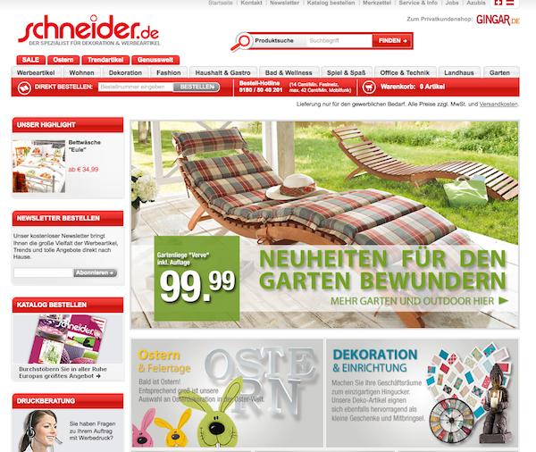 Schneider - Werbemittel und Werbeartikel Online Shop
