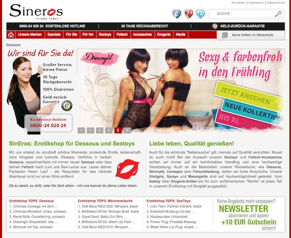 Sineros - Erotikprodukte und Accessoires Online Shop