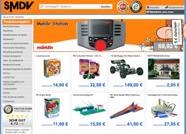 SMDV - Modellbau und Spiele Online Shop