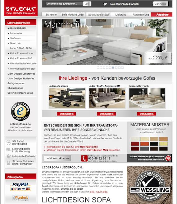 Exklusive Sofas online kaufen