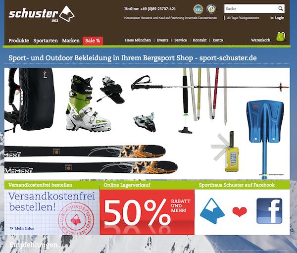 Sport Schuster - Sport und Outdoorbekleidung Online Shop