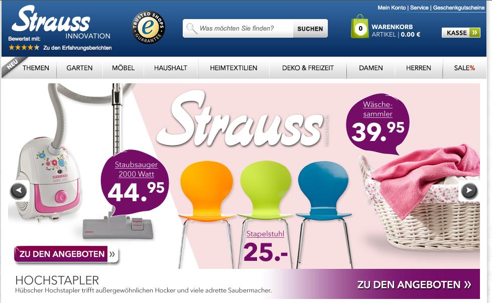 Mode & Wohnaccessoires bei Strauss-Innovation.de