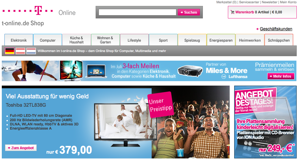 Computer, Multimedia und Unterhaltungselektronik zu sehr günstigen Preisen