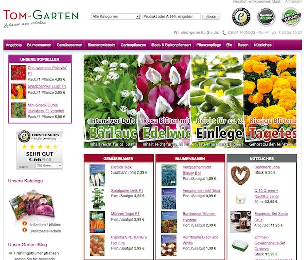 Tom-Garten - Pflanzen, Samen, und Garden Accessories Online Shop