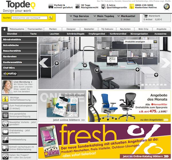 Topdeq - Büromöbel und Büroeinrichtung Online Shop