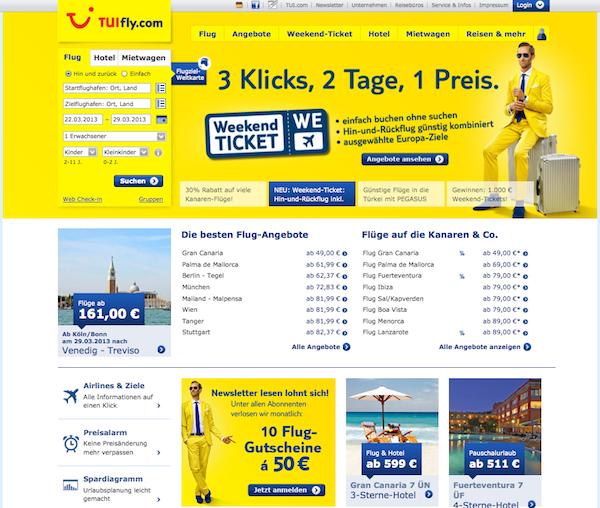 Tuifly online Reisebüro