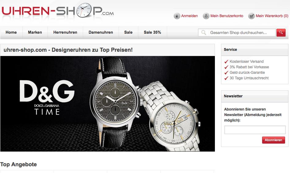 günstige Designeruhren online kaufen