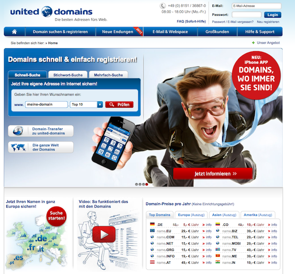 United Domains - Domains Online registrieren