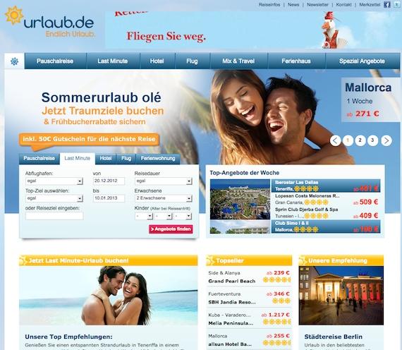 günstige Pauschalreisen und Lastminute-Reisen auf Urlaub.de finden