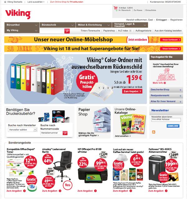 Viking Büroartikel & Bürotechnik Online Shop