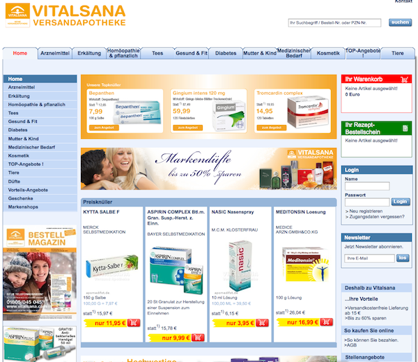 Vitalsana - Medikamente Online Shop