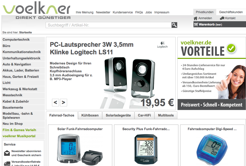 Elektronik günstig bei Völkner Onlineshop