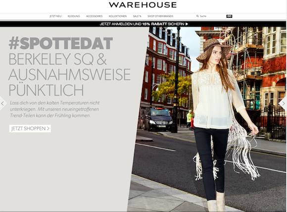 Warehouse - Damenmode Online Shop