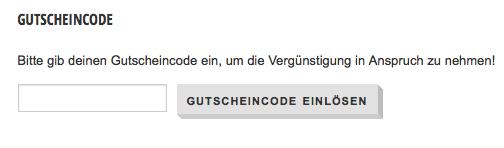 Gutscheincode im Bestellvorgang hier einsetzen